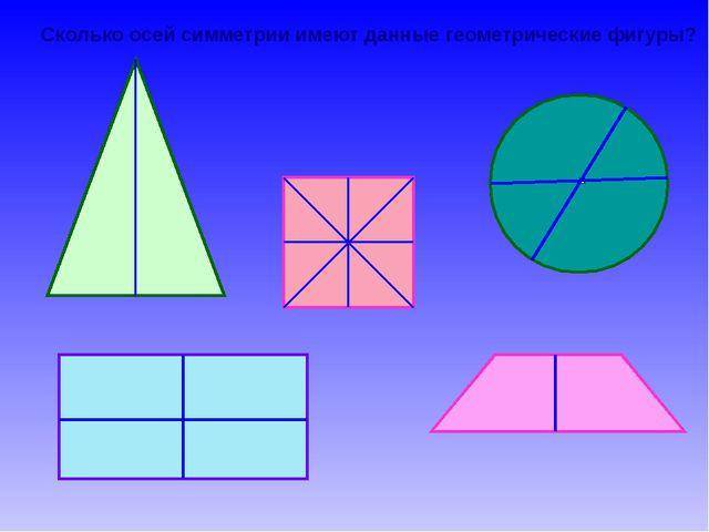 Сколько осей симметрии имеют данные геометрические фигуры?