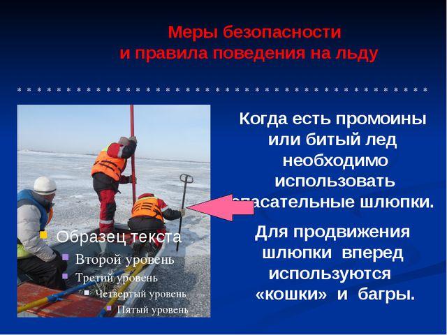 Меры безопасности и правила поведения на льду * * * * * * * * * * * * * * *...