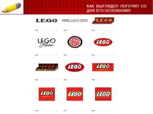 КАК ВЫГЛЯДЕЛ ЛОГОТИП СО ДНЯ ЕГО ОСНОВАНИЯ! LEGO– самый узнаваемый бренд в ми