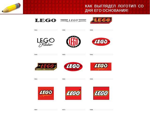 КАК ВЫГЛЯДЕЛ ЛОГОТИП СО ДНЯ ЕГО ОСНОВАНИЯ! LEGO– самый узнаваемый бренд в ми...