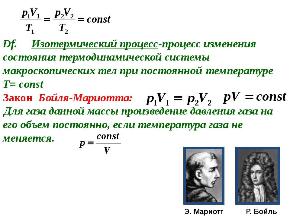 Df. Изотермический процесс-процесс изменения состояния термодинамической си...