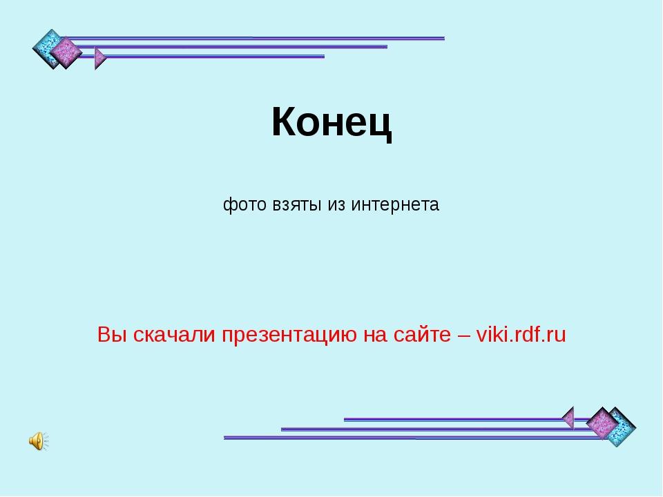 Конец фото взяты из интернета Вы скачали презентацию на сайте – viki.rdf.ru