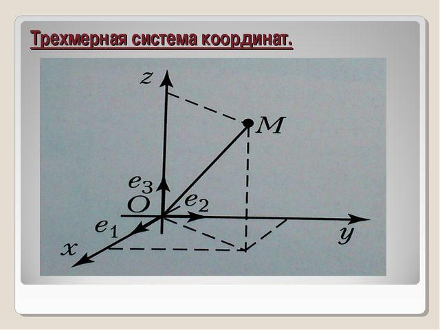 Трехмерная система координат.