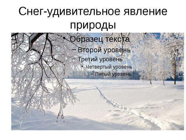 Снег-удивительное явление природы