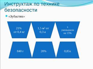 Инструктаж по технике безопасности «Зубастик» 21% от 0,4 кг 1,5 м2 от 0,3 а х