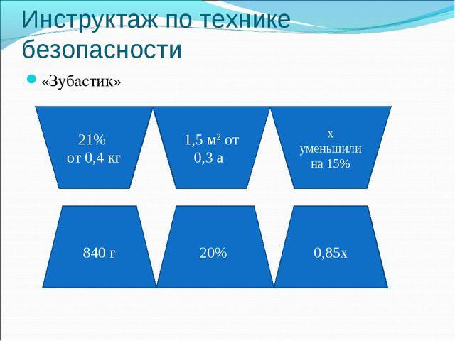 Инструктаж по технике безопасности «Зубастик» 21% от 0,4 кг 1,5 м2 от 0,3 а х...