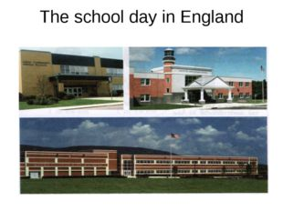 The school day in England