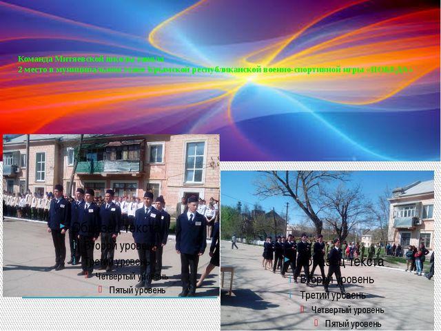 Команда Митяевской школы заняла 2 место в муниципальном этапе Крымской респуб...