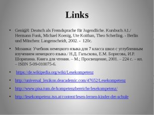 Links Geni@l: Deutsch als Fremdsprache für Jugendliche. Kursbuch A1./ Hermann