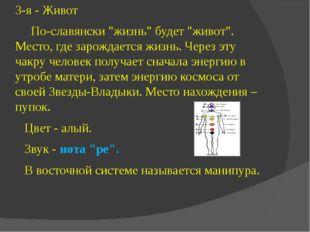 """3-я - Живот По-славянски """"жизнь"""" будет """"живот"""". Место, где зарождается жизнь."""