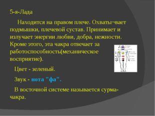 5-я-Лада Находится на правом плече. Охваты¬вает подмышки, плечевой сустав. Пр