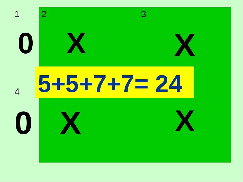 5+5+7+7= 24