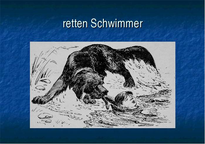 retten Schwimmer