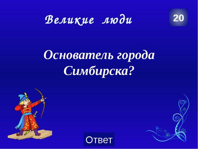 Великие люди Дмитрий Минаев 40 Категория Ваш ответ