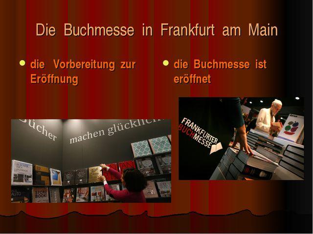 Die Buchmesse in Frankfurt am Main die Vorbereitung zur Eröffnung die Buchmes...