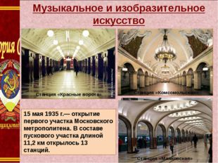Музыкальное и изобразительное искусство Станция «Комсомольская» Станция «Ком