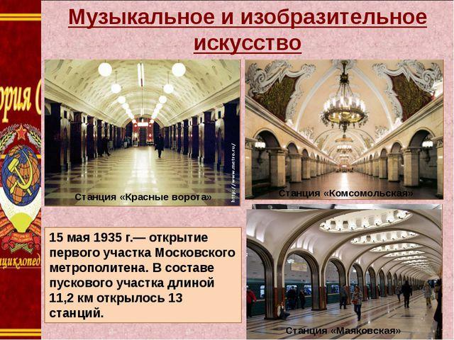 Музыкальное и изобразительное искусство Станция «Комсомольская» Станция «Ком...