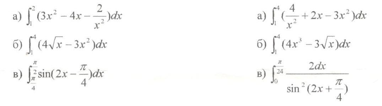 Контрольная работа по алгебре класса по теме Первообразная и  hello html e2852f3 png Найти площадь криволинейной трапеции