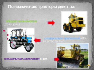 общего назначения ДТ-75, К-744 специального назначения С-100 универсально-пр