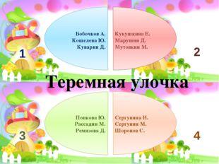 Бобочков А. Кошелева Ю. Куварин Д. Кукушкина Е. Марушин Д. Мутовкин М. Попко
