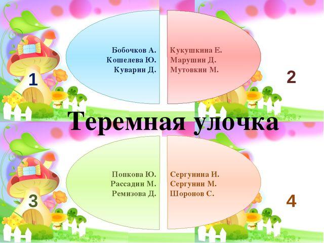 Бобочков А. Кошелева Ю. Куварин Д. Кукушкина Е. Марушин Д. Мутовкин М. Попко...