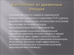 Ученым Института химии и химической технологии Сибирского отделения РАН удало