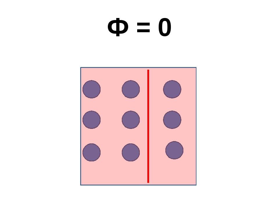 Ф = 0