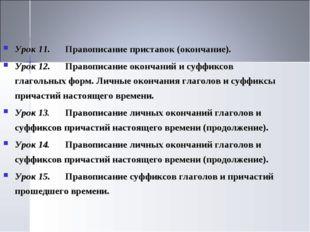 Урок 11.Правописание приставок (окончание). Урок 12.Правописание окончаний