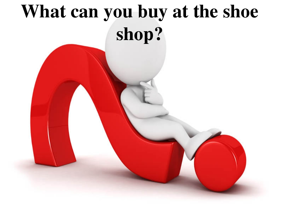 What can you buy at the shoe shop?