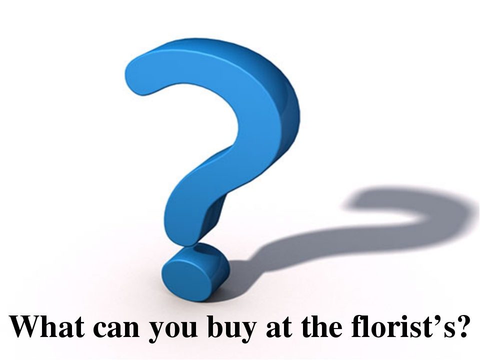 What can you buy at the florist's?