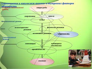 Соотношения и взаимосвязи внешних и внутренних факторов одаренности. .