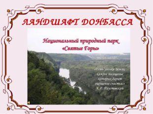 ЛАНДШАФТ ДОНБАССА