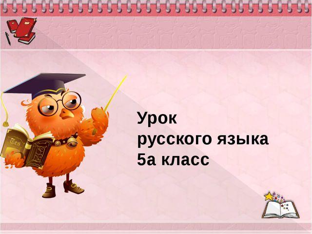 Урок русского языка 5а класс