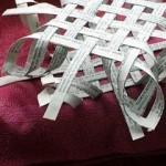 объемная снежинка из бумажных полосок