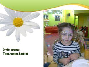 2 «А» класс Танклаева Амина