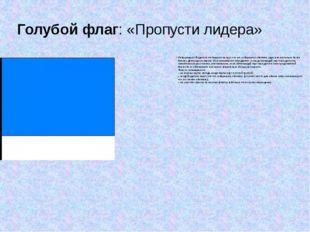 Голубой флаг:«Пропусти лидера» Информирует Водителя отставшего на круг, что