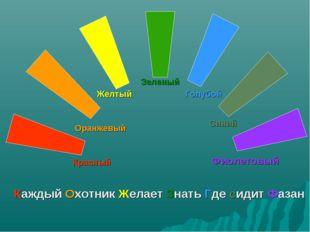 Красный Оранжевый Желтый Зеленый Голубой Синий Фиолетовый Каждый Охотник Жела