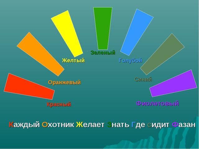 Красный Оранжевый Желтый Зеленый Голубой Синий Фиолетовый Каждый Охотник Жела...