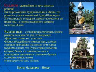 Буддизм - древнейшая из трех мировых религий. Как мировоззрение буддизм возни