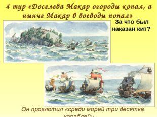 Он проглотил «среди морей три десятка кораблей» 4 тур «Доселева Макар огороды
