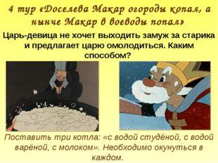 4 тур «Доселева Макар огороды копал, а нынче Макар в воеводы попал» Царь-деви