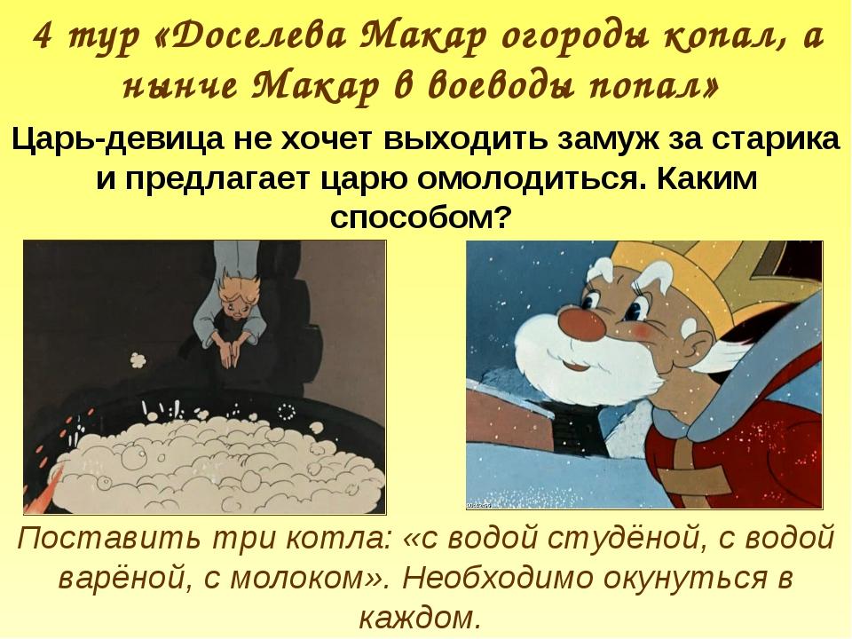 4 тур «Доселева Макар огороды копал, а нынче Макар в воеводы попал» Царь-деви...