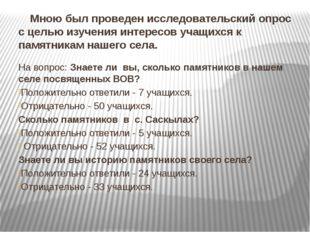 Мною был проведен исследовательский опрос с целью изучения интересов учащихс