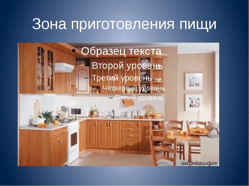Зона приготовления пищи