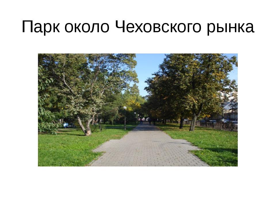 Парк около Чеховского рынка