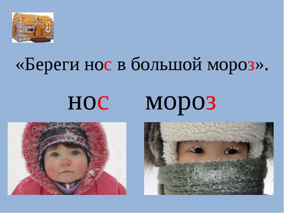 «Береги нос в большой мороз». «Береги нос в большой мороз». нос     мороз
