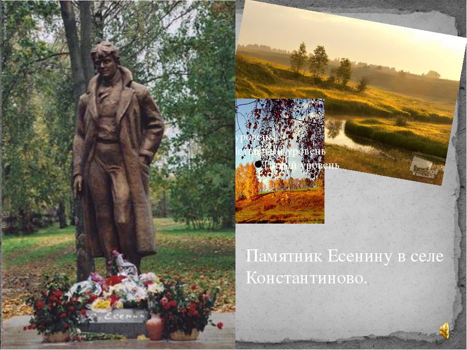 Памятник Есенину в селе Константиново.