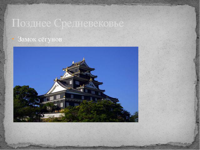 Позднее Средневековье Замок сёгунов