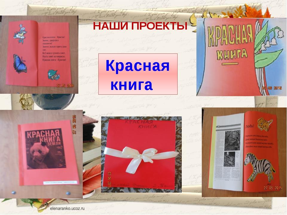 НАШИ ПРОЕКТЫ Красная книга