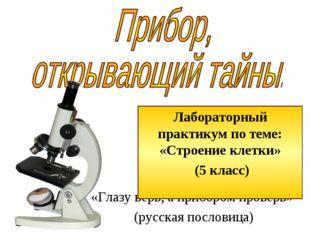 «Глазу верь, а прибором проверь» (русская пословица) Лабораторный практикум п